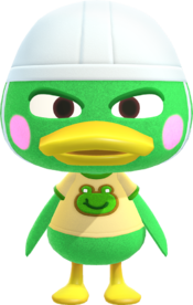 Scoot, an Animal Crossing villager.