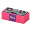 DJ's Turntable (Pink - Rock Logo)