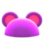 Flashy Round-Ear Animal Hat (Purple) NH Icon.png