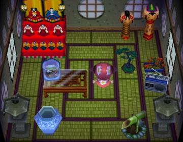 Interior of Dora's house in Animal Crossing