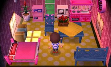 Interior of Peanut's house in Animal Crossing: New Leaf