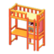 Loft Bed with Desk (Orange - Yellow) NH Icon.png
