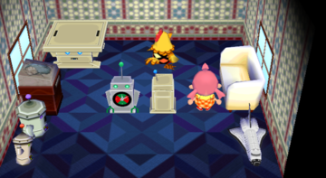 Interior of Egbert's house in Animal Crossing: City Folk