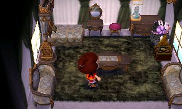 Interior of Muffy's house in Animal Crossing: New Leaf