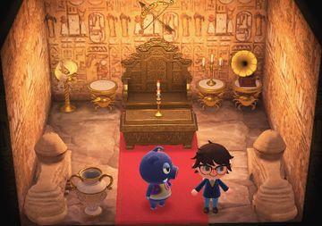 Interior of Boris's house in Animal Crossing: New Horizons