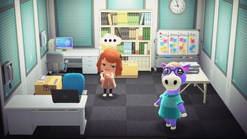 Interior of Cleo's house in Animal Crossing: New Horizons