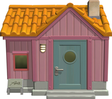Exterior of Fuchsia's house in Animal Crossing: New Horizons