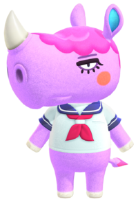 Renée, an Animal Crossing villager.