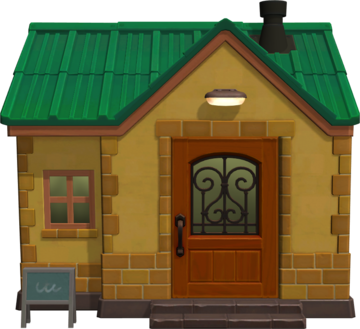 Exterior of Charlise's house in Animal Crossing: New Horizons