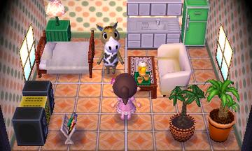 Interior of Winnie's house in Animal Crossing: New Leaf