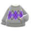 Argyle Sweater (Gray) NH Icon.png