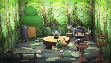 Interior of Camofrog's house in Animal Crossing: New Horizons