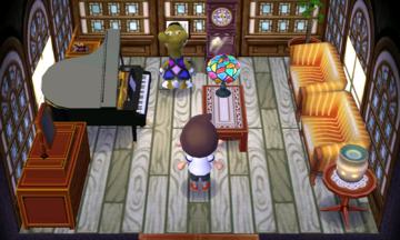 Interior of Kitt's house in Animal Crossing: New Leaf