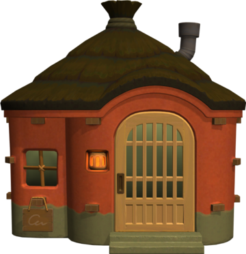 Exterior of Rasher's house in Animal Crossing: New Horizons