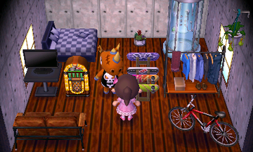 Interior of Spike's house in Animal Crossing: New Leaf