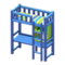 Loft Bed with Desk (Blue - Green Stripes) NH Icon.png