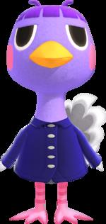 Artwork of Queenie the Ostrich