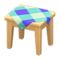 Wooden Mini Table (Light Wood - Blue) NH Icon.png