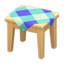 Wooden Mini Table (Light Wood - Blue)