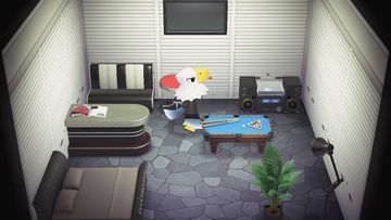 Interior of Apollo's house in Animal Crossing: New Horizons