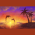 Unfinished Puzzle with the Sunset pattern applied.