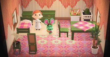 Interior of Anicotti's house in Animal Crossing: New Horizons