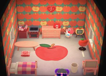 Interior of Apple's house in Animal Crossing: New Horizons