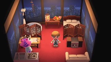Interior of Claudia's house in Animal Crossing: New Horizons