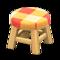 Wooden Stool (Light Wood - Orange) NH Icon.png