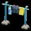 Clothesline Pole (Blue - Fish)