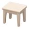 Wooden Mini Table (White Wood - None) NH Icon.png