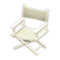 Director's Chair (White - Natural White) NH Icon.png
