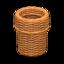 Rattan Waste Bin (Reddish Brown)