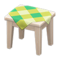 Wooden Mini Table (White Wood - Green) NH Icon.png