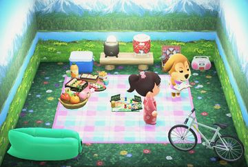 Interior of Maddie's house in Animal Crossing: New Horizons