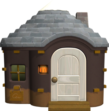 Exterior of Zell's house in Animal Crossing: New Horizons