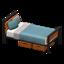 Ironwood Bed (Teak - Blue-Gray)