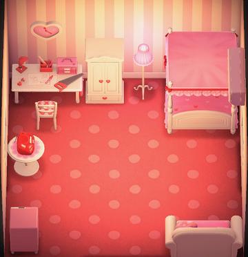 Interior of Tutu's house in Animal Crossing: New Horizons