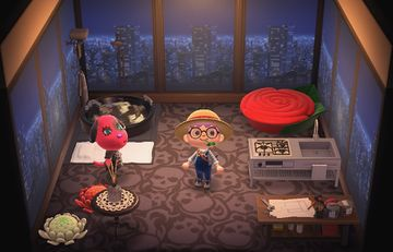 Interior of Cherry's house in Animal Crossing: New Horizons