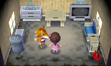 Interior of Chief's house in Animal Crossing: New Leaf