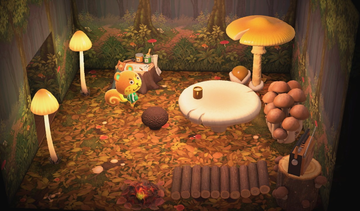 Interior of Sheldon's house in Animal Crossing: New Horizons