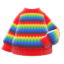 Rainbow Sweater (Red) NH Icon.png