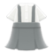 Skirt with Suspenders (Gray) NH Icon.png