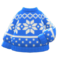 Snowy Sweater (Blue) NH Icon.png