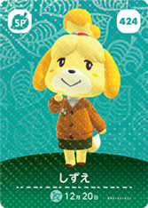 424 Isabelle amiibo card JP.png