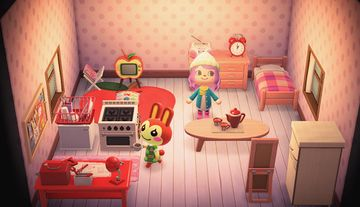 Interior of Bunnie's house in Animal Crossing: New Horizons