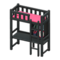 Loft Bed with Desk (Black - Pink) NH Icon.png
