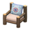 Log Chair (Dark Wood - Quilted) NH Icon.png