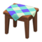 Wooden Mini Table (Dark Wood - Blue) NH Icon.png