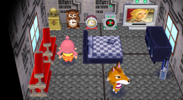Interior of Chief's house in Animal Crossing: City Folk